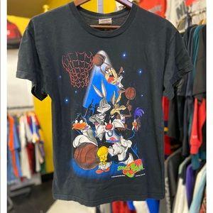1996 SPACE JAM - Looney Tunes Movie Promo Tee